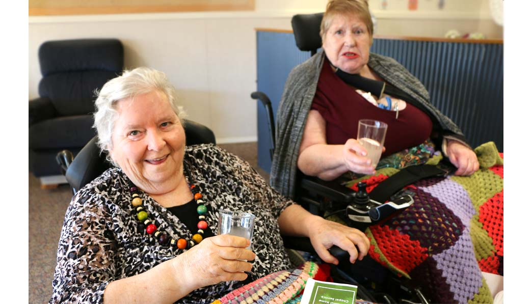 Kowhainui Home residents enjoy home-made ginger beer