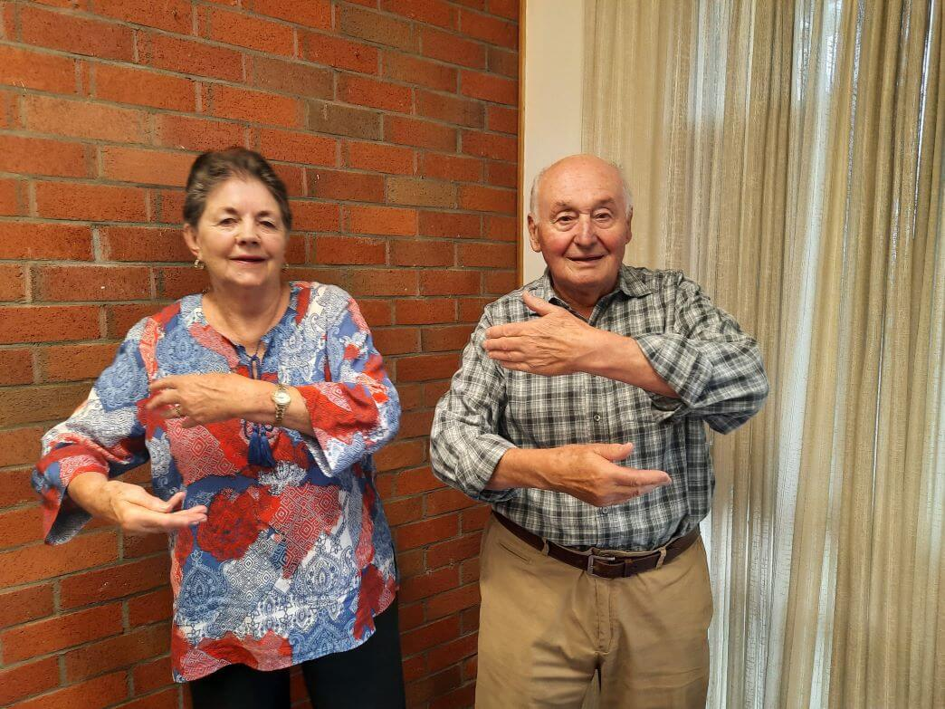 Modified Tai Chi classes get Joan and Karl moving