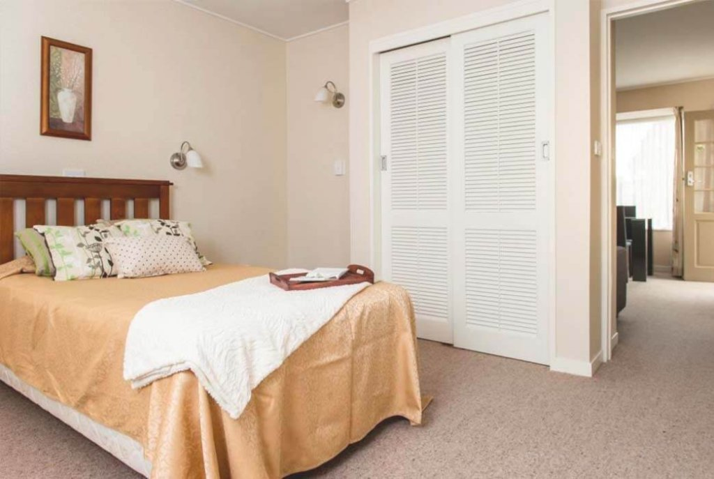 Roomy bedroom in the one bedroom villas at Coombrae Village.