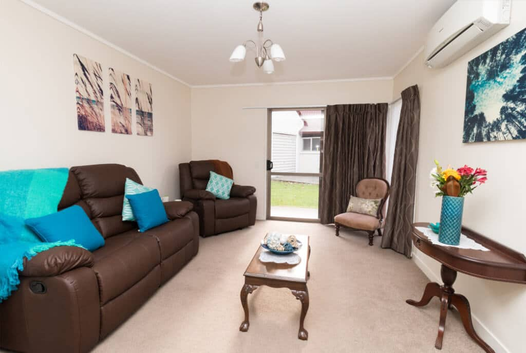 Generous sized living space at Brightwater Village.