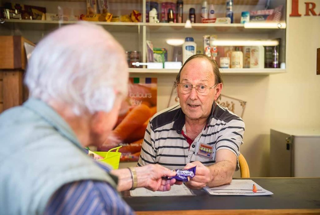 Huntleigh Home's popular shop is mainly run by residents, for residents.
