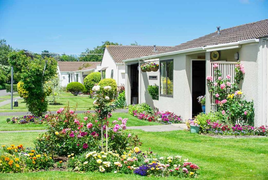 Stunning park-like grounds and garden surround the villas on Kowhainui Drive.