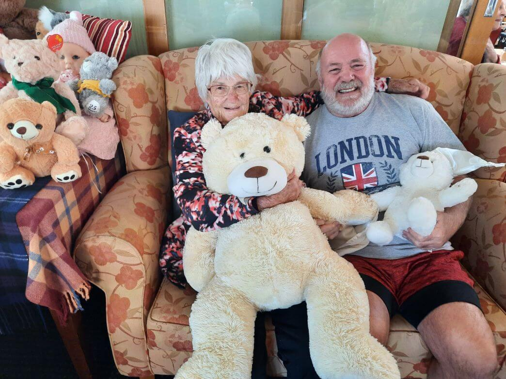 Generations of teddy bears picnic at Willard Home