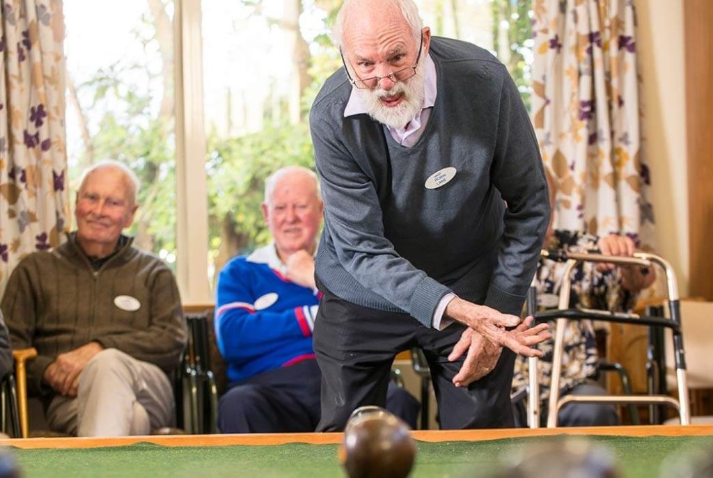 Bowls is just one of the many fun activities at Woburn Home.