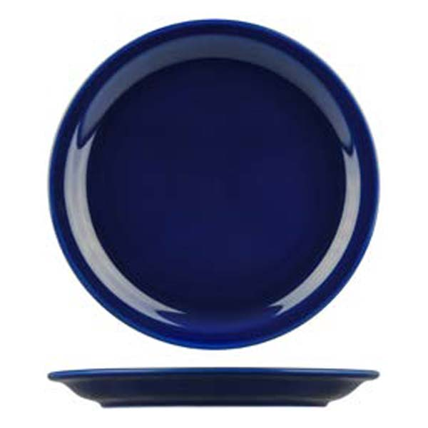 high contrast coloured plate blue