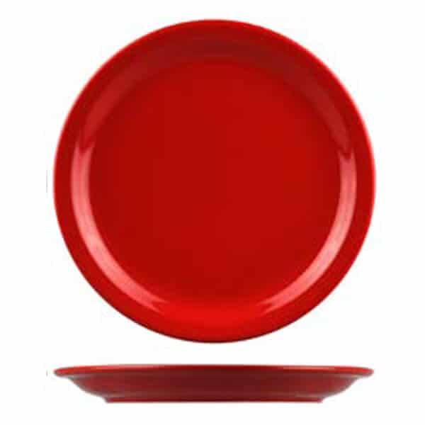 high contrast coloured plate red